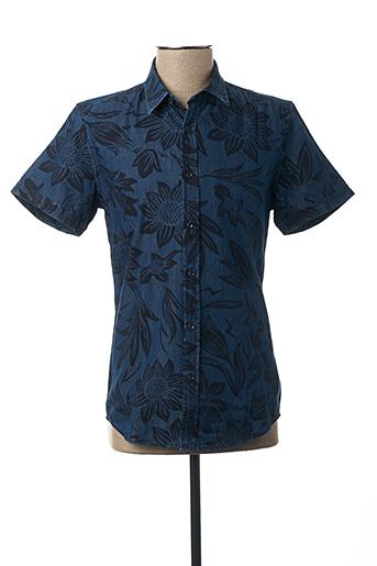 Chemise manches courtes bleu ANTONY MORATO pour homme