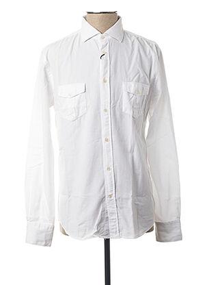 Chemise manches longues blanc CARNET DE VOL pour homme