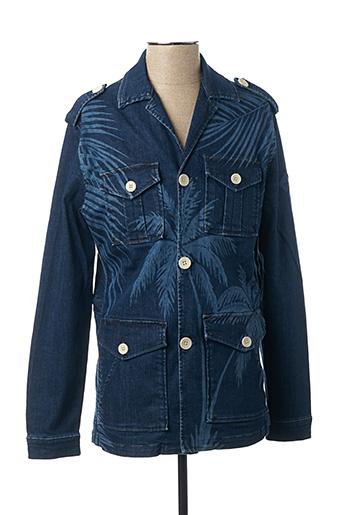 Veste en jean bleu CARNET DE VOL pour homme