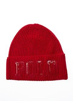 Bonnet rouge RALPH LAUREN pour fille