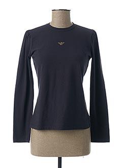 T-shirt manches longues bleu ARMANI pour fille