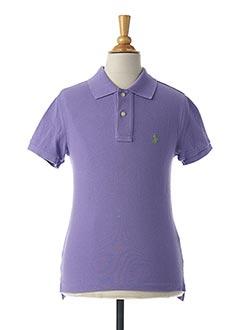 Polo manches courtes violet RALPH LAUREN pour garçon