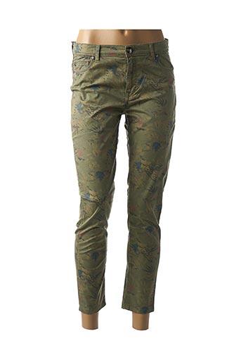 Pantalon 7/8 vert MENSI COLLEZIONE pour femme