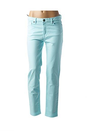 Pantalon casual bleu MENSI COLLEZIONE pour femme