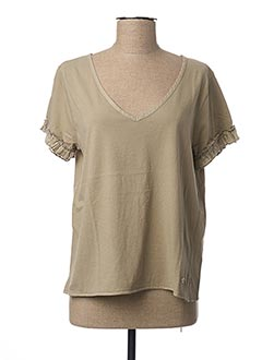 T-shirt manches courtes marron JOCAVI pour femme