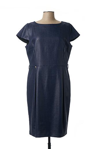 Robe mi-longue bleu CRISTINA BARROS pour femme