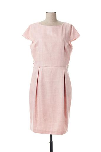 Robe mi-longue rose CRISTINA BARROS pour femme