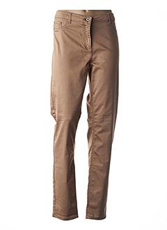 Jeans coupe slim beige BRANDTEX pour femme