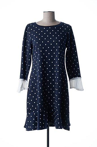 Robe mi-longue bleu AKINO LAUDE pour femme