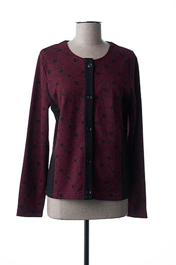 Veste casual rouge BRANDTEX pour femme