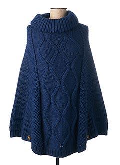 Poncho bleu B.YU pour femme