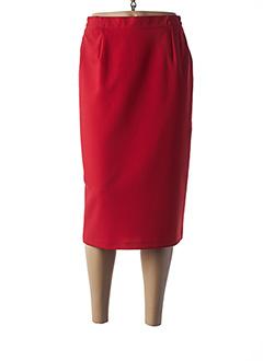 Jupe mi-longue rouge GRIFFON pour femme