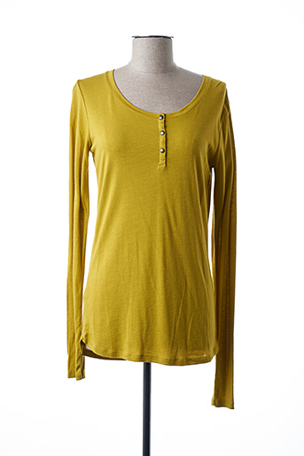 T-shirt manches longues jaune PETIT BATEAU pour femme