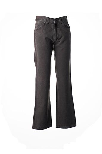 Jeans coupe droite marron FLORENTINO pour homme