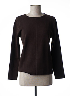 Pull col rond marron FUEGO WOMAN pour femme