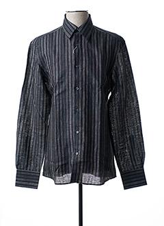 Chemise manches longues noir GIANFRANCO FERRE pour homme
