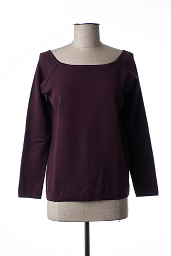 Pull col rond violet FUEGO WOMAN pour femme
