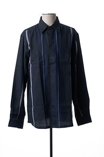 Chemise manches longues bleu FLORENTINO pour homme