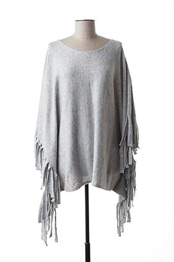 Pull tunique gris INTERDEE pour femme