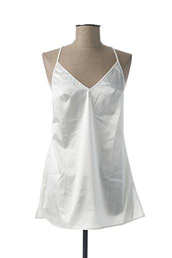 Nuisette/combinette blanc IMPLICITE pour femme