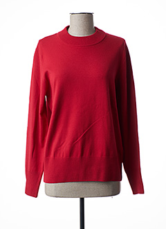 Pull col cheminée rouge RABE pour femme