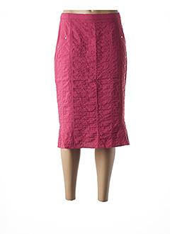 Jupe mi-longue rouge FRANCE RIVOIRE pour femme
