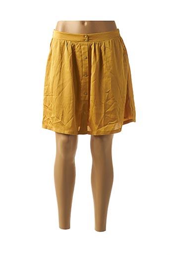 Jupe courte jaune GRACE & MILA pour femme