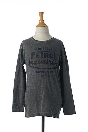 T-shirt manches longues gris PETROL INDUSTRIES pour garçon