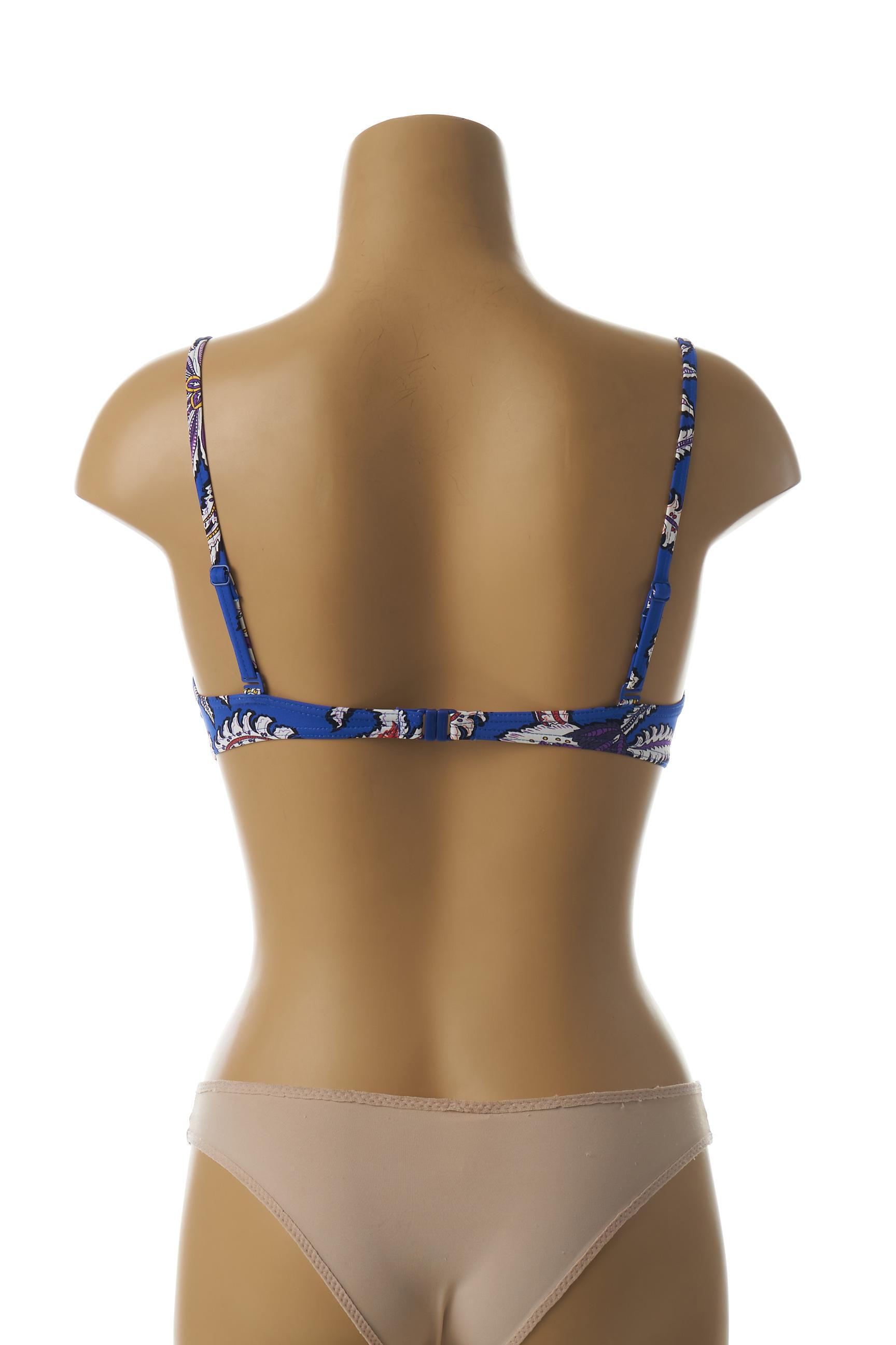 Huit Separables Haut Femme De Couleur Bleu En Soldes Pas Cher 1439351-bleu00