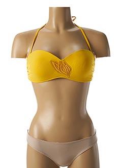 Haut de maillot de bain jaune HUIT pour femme
