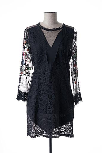Desigual Robes Courtes Femme De Couleur Noir En Soldes Pas Cher 1442624 Noir00 Modz