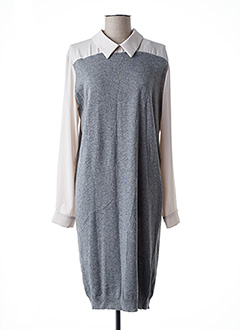 Robe pull gris LA FEE MARABOUTEE pour femme