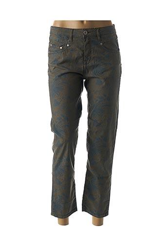 Pantalon 7/8 beige DENIM STUDIO pour femme