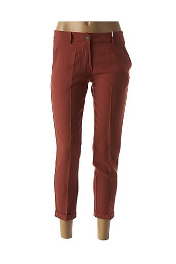 Pantalon 7/8 marron PAKO LITTO pour femme