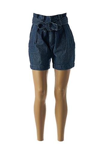 Short bleu GARCONNE pour femme