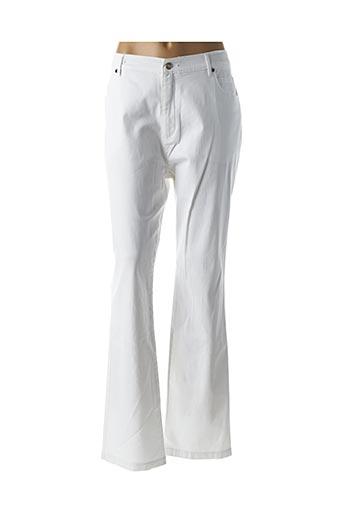 Pantalon casual blanc MARBLE pour femme