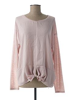 T-shirt manches longues rose BROADWAY pour femme