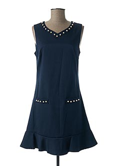Robe courte bleu RINASCIMENTO pour femme