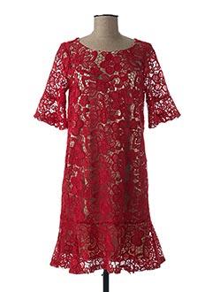 Robe mi-longue rouge RINASCIMENTO pour femme