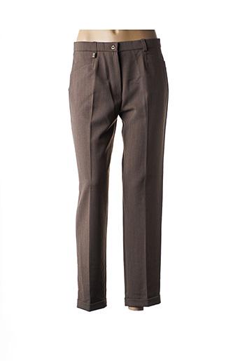 Pantalon 7/8 marron CHRISTINE LAURE pour femme