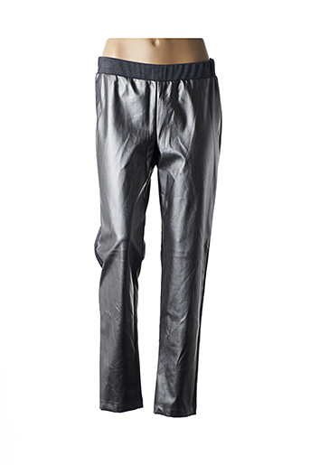 Pantalon casual gris ELEONORA AMADEI pour femme