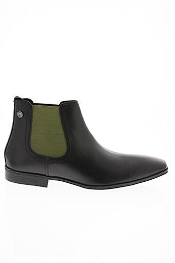Bottines/Boots noir BASE LONDON pour homme