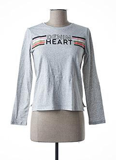 T-shirt manches longues gris GARCIA pour fille