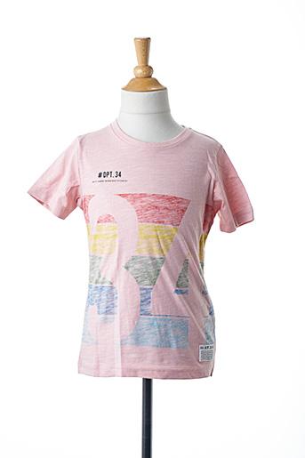 T-shirt manches courtes rose NAME IT pour garçon