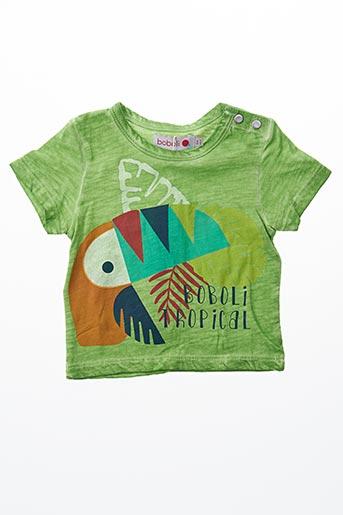 T-shirt manches courtes vert BOBOLI pour garçon