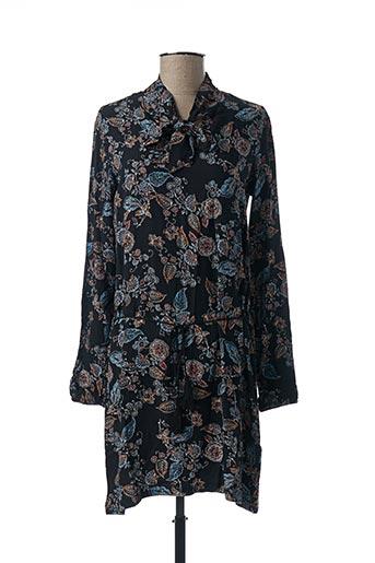 Robe mi-longue noir COLINE pour femme