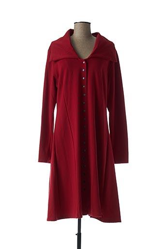 Robe mi-longue rouge BORIS INDUSTRIES pour femme