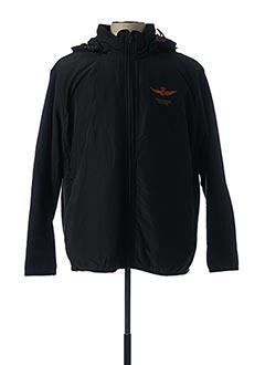 Veste casual noir AERONAUTICA pour homme