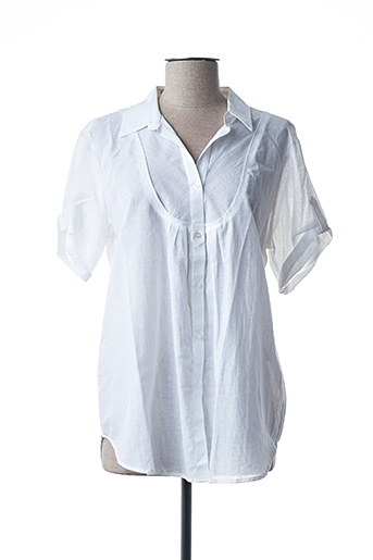 Chemisier manches courtes blanc FINETTE pour femme