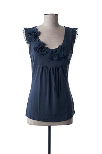 T-shirt manches courtes bleu FINETTE pour femme
